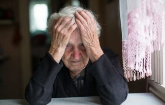 Depressed elderly sexual abuse victim.